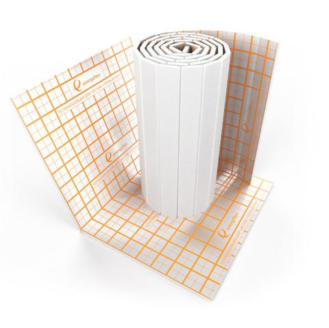 Теплоизоляция для теплого пола Energofloor Reflect -  мат 1000x3500x25 мм (с алюминиевой фольгой)
