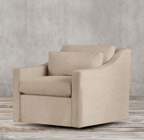 Belgian Classic Slope Arm Swivel Chair
