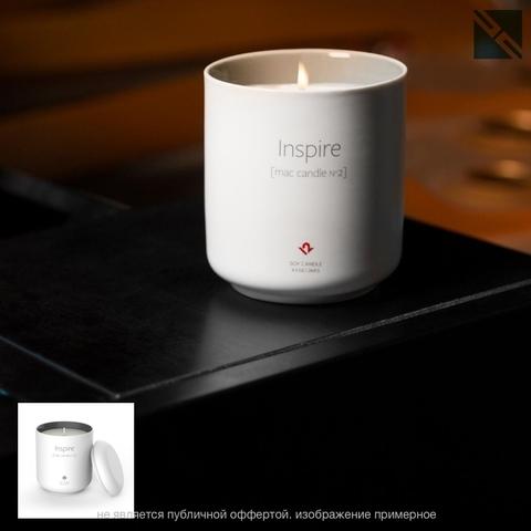 Свеча ароматическая Twelve South Inspire (Вдохновлять) mac Candle N2 запах нового мака