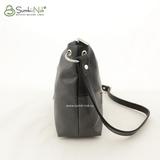Сумка Саломея 444 серый + черный