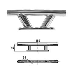 Утка швартовая 150 мм, сталь