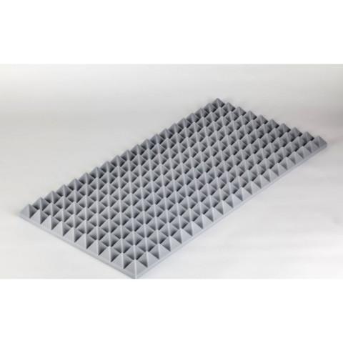 негорючая  акустическая панель  Пирамида ECHOTON FIREPROOF 100x50x5cm  из материала  BASOTECT серый