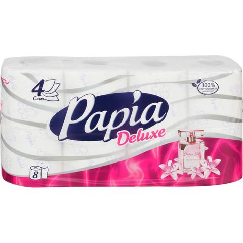 Бумага туалетная PapiaDelux DolceVit   4слбел 100%ц втул 17,5м 140л 8рул/уп
