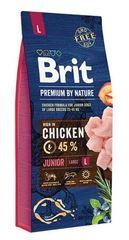 Корм для щенков и молодых собак крупных пород, Brit Premium by Nature Junior L