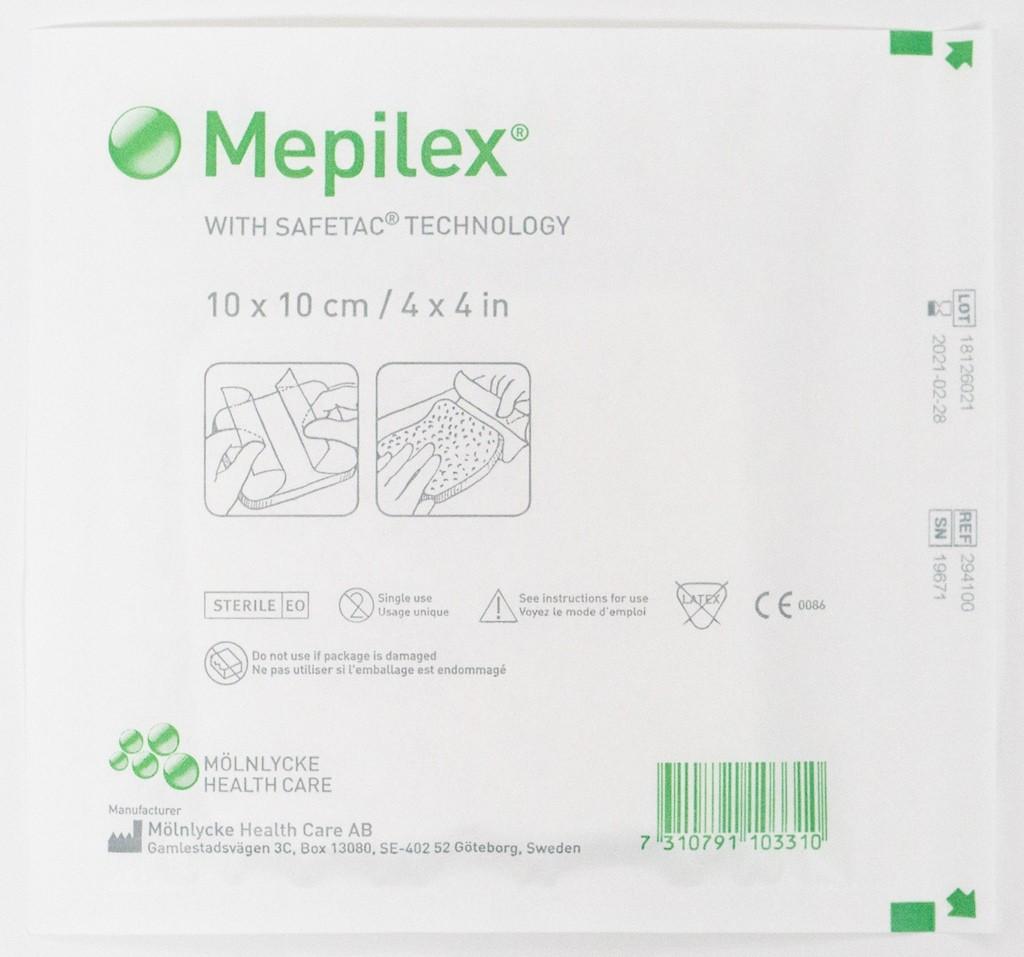 Мепилекс (Mepilex) 10х10 см, 5 шт в упаковке