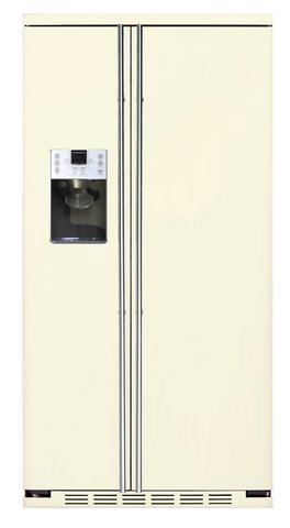 Холодильник side-by-side IO MABE ORGS 2 DFFF 6RAL бежевый