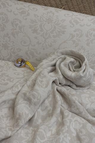 Жаккард смягченный двухсторонний цвет БЕЖ/СВЕТЛЫЙ БЕЖ