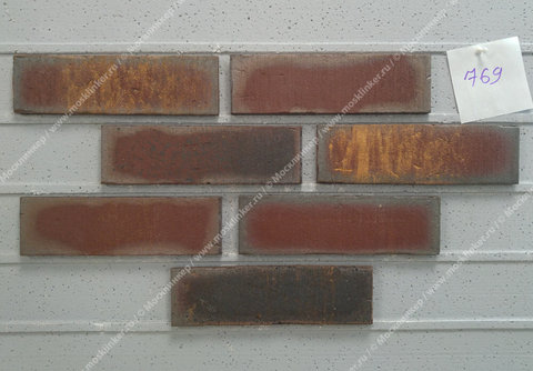 Плитка для фасада и внутренней отделки Feldhaus Klinker, VASCU, R769NF14, поверхность Wasserstrich, cerasi legoro