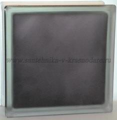 Стеклоблок матовый черный Vitrablok  19x19x8  окрашенный изнутри