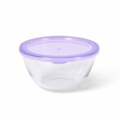 Миска с пластиковой крышкой 17x9см / 1,05л (стекло)