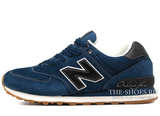 Кроссовки Мужские New Balance 574 Premium Suede Navy Black White
