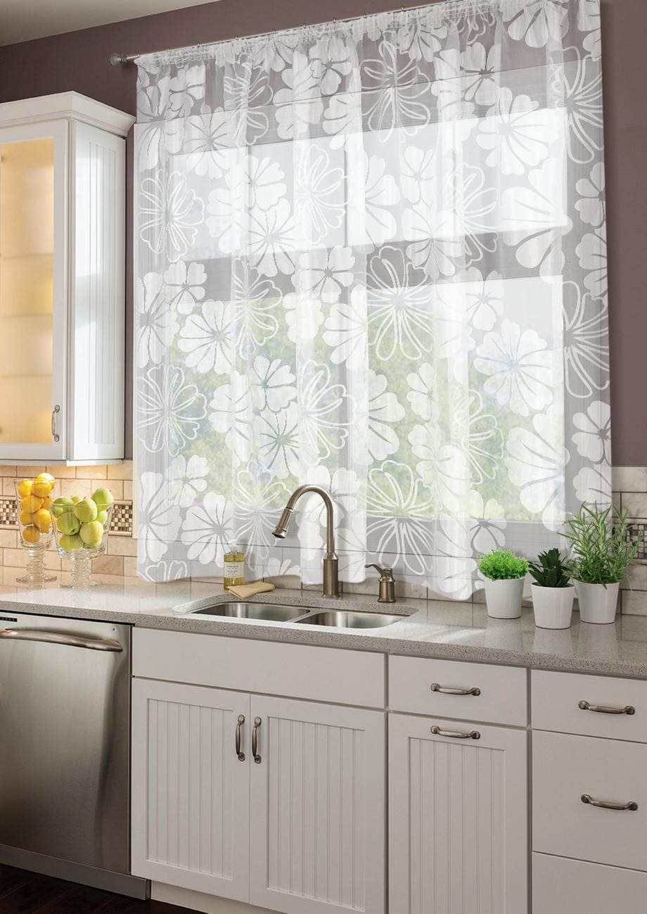 Красивое оформление тюлем аркой кухонного окна: практические ... | 1299x920