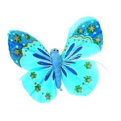 Бабочки декоративные цветные 5*8 см, 1 шт.