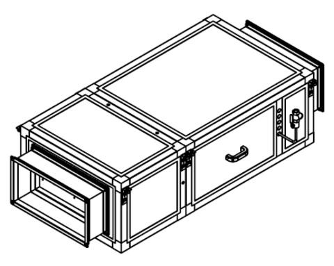 Канальный увлажнитель воздуха Breezart 2000 HumiAqua P с водяным пред- и постнагревателем (кассета Glas Pad)