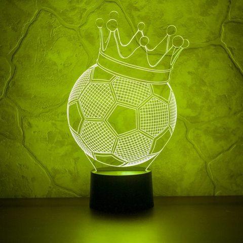 Ночник Футбольный мяч с короной