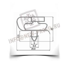 Уплотнитель 88*56 см для холодильника Атлант МХМ-1705-03 КШД380/150 (морозильная камера) Профиль 021