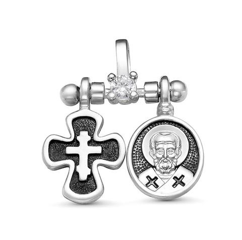 Крест и образок Николай Чудотворец
