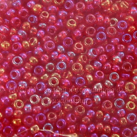 91070 Бисер 10/0 Preciosa прозрачный радужный красный микс