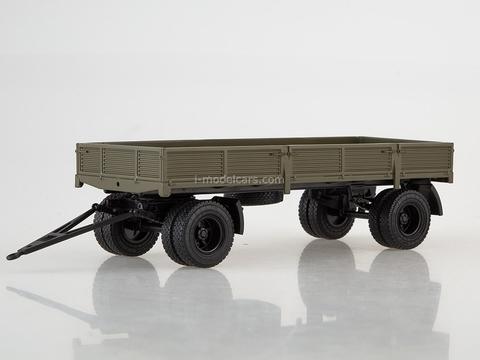 Trailer GKB-8350 flatbed khaki 1:43 AutoHistory