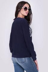 Практичный свитшот для современной дамы. ( Длина свитшота/ длина рукава: Все размеры-61см/62см)  Основа черная.