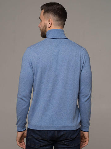 Denim color male jumper made of 100% cashmere - фото 2
