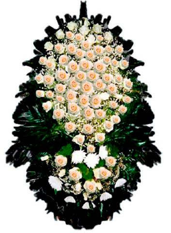 Траурный венок из живых цветов ВЖ 08 -150 см