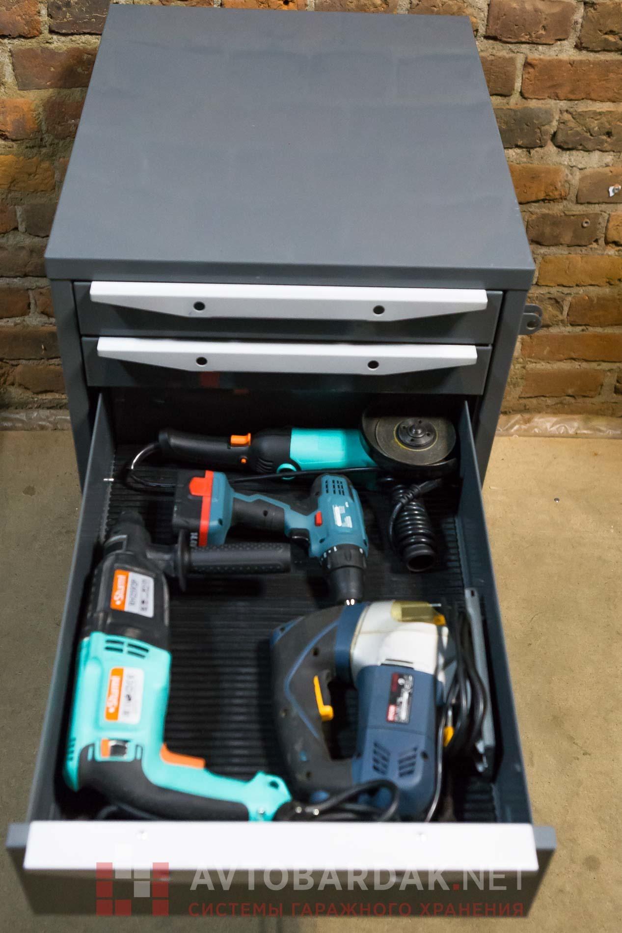 Тумба с 5 выдвижными ящиками для усиленного верстака серии ТВК