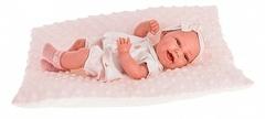 Munecas Antonio Juan Кукла-младенец Глория на розовой подушке, 33 см (6028P)
