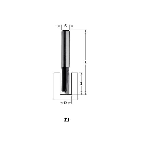 Фреза концевая CMT-contractor пазовая S=8 D=5x12x50,8 Z=1