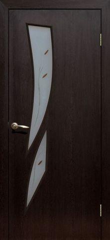 Дверь Сибирь Профиль Стрелиция, цвет венге 3D, остекленная