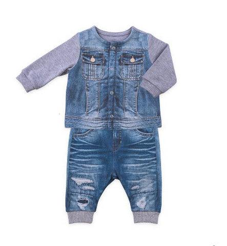 Папитто. Комплект кофточка и штанишки для мальчика FASHION JEANS