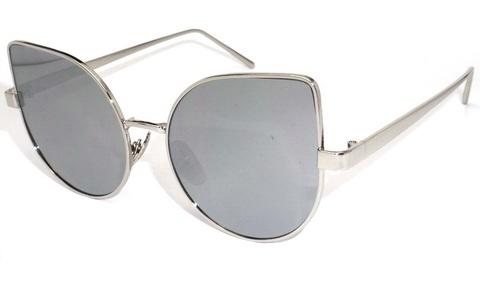Солнцезащитные очки 191001s Серебряные зеркальные