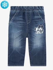 BWB000101 джинсы для мальчиков утепленные, медиум дарк