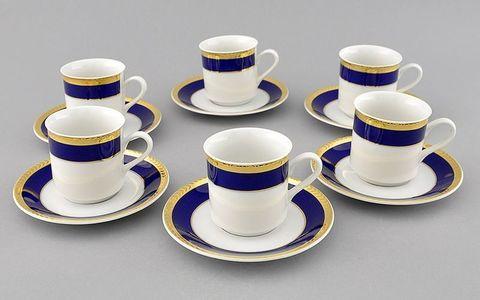 Набор чашек высоких с блюдцами 0,15 л 6 штук Сабина Leander