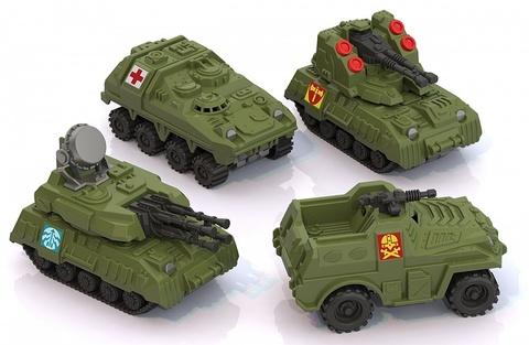 Военная серия мини 4 шт (в блистере)