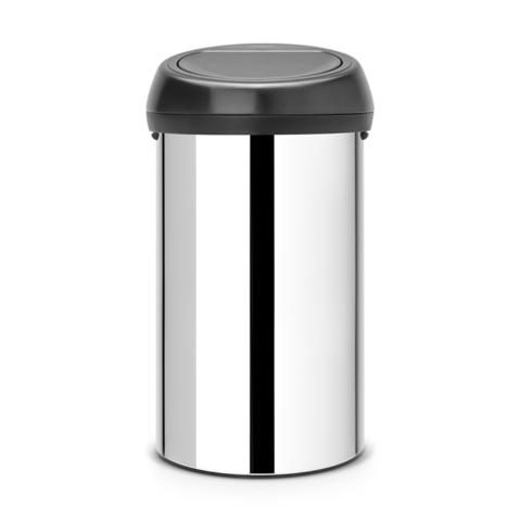 Мусорный бак Touch Bin (60 л), Стальной полированный, арт. 402586 - фото 1