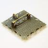 Основа для броши с сеттингом для кабошона 25х25 мм, 35 мм (цвет - античная бронза)