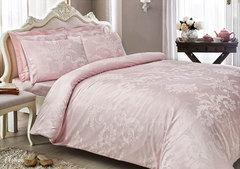 Постельное белье ARREDO розовый  жаккард deluxe TIVOLYO HOME Турция