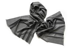 Шарф из шелка и шерсти серый 01276