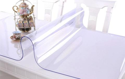 <p>Прозрачная скатерть пленка (120х80см) для стеклянных, глянцевых ...