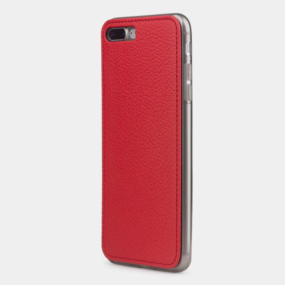 Чехол-накладка для iPhone 8 Plus из натуральной кожи теленка, красного цвета