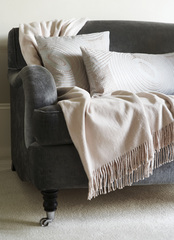 Плед 130х200 Gingerlily Silk Throw Ivory слоновая кость