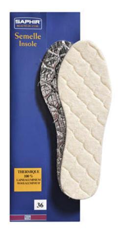 Зимние стельки из натуральной шерсти на пенолатексной основе с алюминиевой фольгой, Saphir (12 размеров)