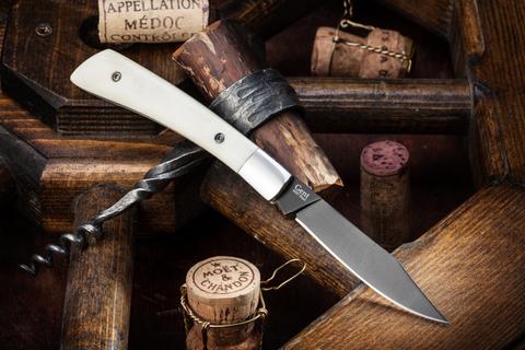 Складной нож Gent Aus-8 Bone Black Titanium