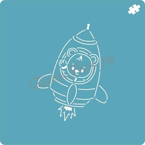 Мишка космонавт