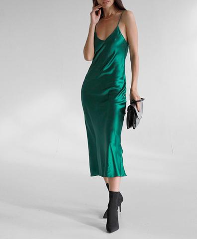 Платье-комбинация Изумруд