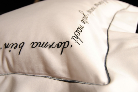 Наволочка 40х40 Christian Fischbacher Luxury Nights Sweet Dreams 557 антрацит