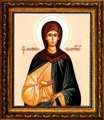 Светлана (Фотина, Фотиния) Палестинская Святая преподобная. Икона на холсте.