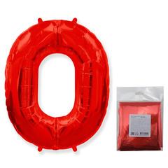 F Цифра, 0, Красный, 40''/102 см, 1 шт. в упаковке