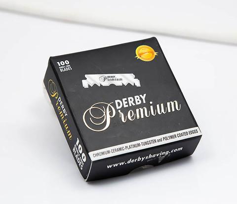 Упаковка профессиональных половинок лезвий Derby Premium (100 шт.)